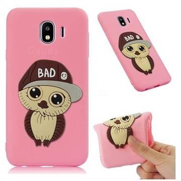 Bad Boy Owl Soft 3D Silicone Case for Samsung Galaxy J4 (2018) SM-J400F - Pink