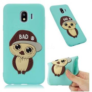 Bad Boy Owl Soft 3D Silicone Case for Samsung Galaxy J4 (2018) SM-J400F - Sky Blue