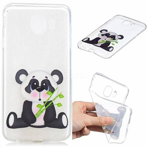Bamboo Panda Clear Varnish Soft Phone Back Cover for Samsung Galaxy J4 (2018) SM-J400F
