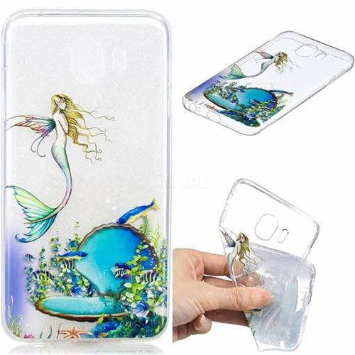 Mermaid Clear Varnish Soft Phone Back Cover for Samsung Galaxy J4 (2018) SM-J400F