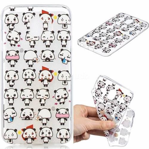 Mini Panda Clear Varnish Soft Phone Back Cover for Samsung Galaxy J4 (2018) SM-J400F