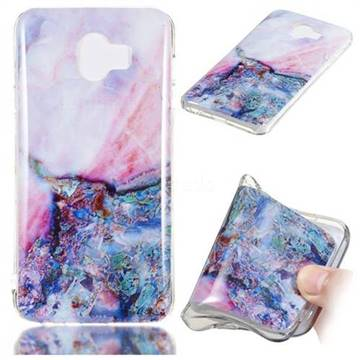 Purple Amber Soft TPU Marble Pattern Phone Case for Samsung Galaxy J4 (2018) SM-J400F
