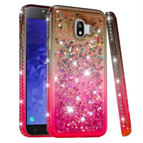 newest 14c6c be67a Diamond Frame Liquid Glitter Quicksand Sequins Phone Case for Samsung  Galaxy J4 (2018) SM-J400F - Gray Pink