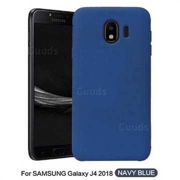 official photos 4173c 45751 Howmak Slim Liquid Silicone Rubber Shockproof Phone Case Cover for Samsung  Galaxy J4 (2018) SM-J400F - Midnight Blue