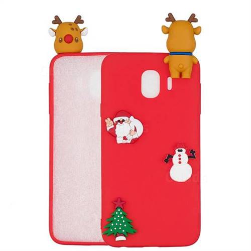 Red Elk Christmas Xmax Soft 3D Silicone Case for Samsung Galaxy J4 (2018) SM-J400F