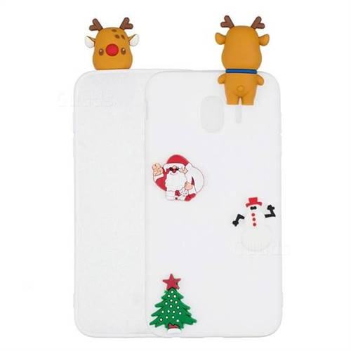 White Elk Christmas Xmax Soft 3D Silicone Case for Samsung Galaxy J4 (2018) SM-J400F