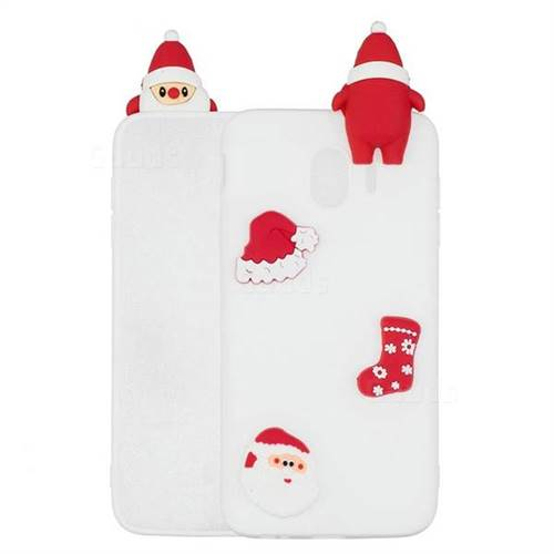 White Santa Claus Christmas Xmax Soft 3D Silicone Case for Samsung Galaxy J4 (2018) SM-J400F