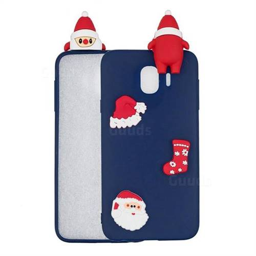 Navy Santa Claus Christmas Xmax Soft 3D Silicone Case for Samsung Galaxy J4 (2018) SM-J400F