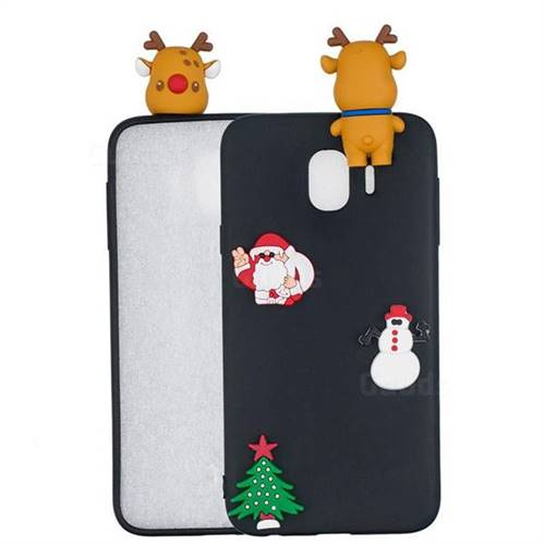 Black Elk Christmas Xmax Soft 3D Silicone Case for Samsung Galaxy J4 (2018) SM-J400F
