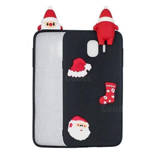 Black Santa Claus Christmas Xmax Soft 3D Silicone Case for Samsung Galaxy J4 (2018) SM-J400F