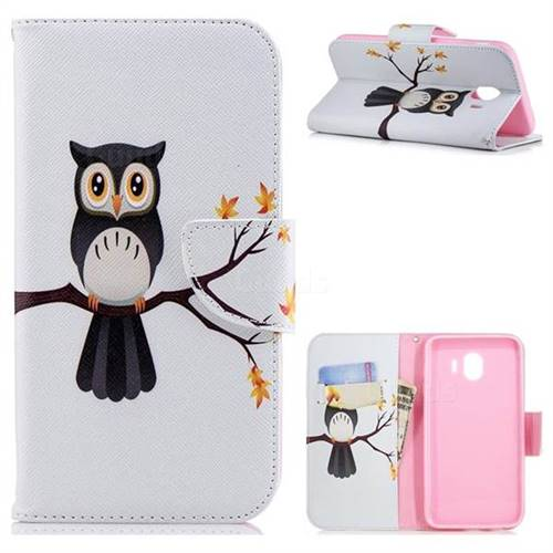 Owl on Tree Leather Wallet Case for Samsung Galaxy J4 (2018) SM-J400F