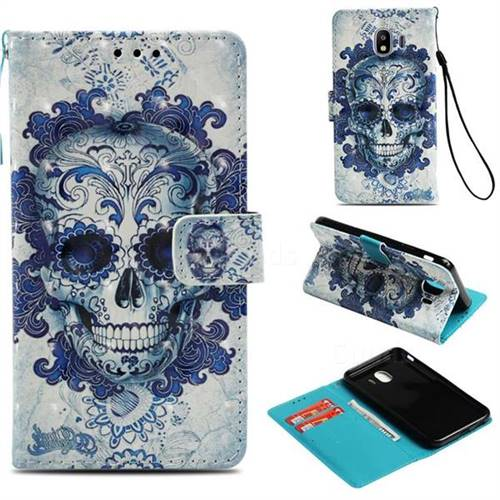 Cloud Kito 3D Painted Leather Wallet Case for Samsung Galaxy J4 (2018) SM-J400F