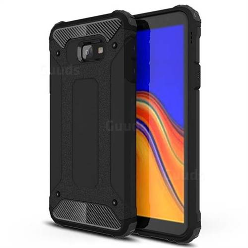 King Kong Armor Premium Shockproof Dual Layer Rugged Hard Cover for Samsung Galaxy J4 Core - Black Gold