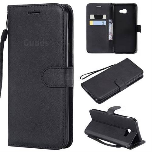 Retro Greek Classic Smooth PU Leather Wallet Phone Case for Samsung Galaxy J4 Core - Black
