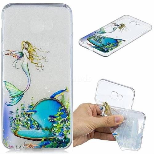 Mermaid Clear Varnish Soft Phone Back Cover for Samsung Galaxy J4 Plus(6.0 inch)