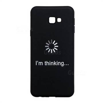 low priced 621bf 9a249 Thinking Stick Figure Matte Black TPU Phone Cover for Samsung Galaxy J4  Plus(6.0 inch)