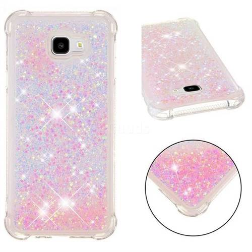 Dynamic Liquid Glitter Sand Quicksand TPU Case for Samsung Galaxy J4 Plus(6.0 inch) - Silver Powder Star