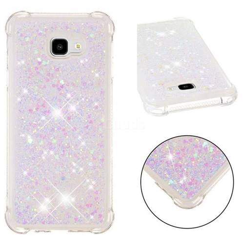 Dynamic Liquid Glitter Sand Quicksand Star TPU Case for Samsung Galaxy J4 Plus(6.0 inch) - Pink