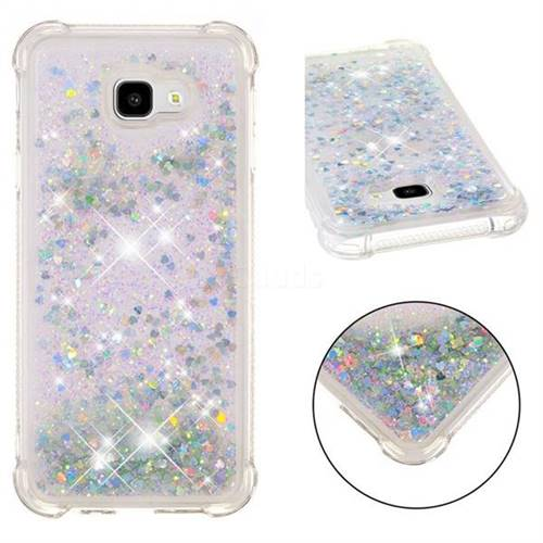 Dynamic Liquid Glitter Sand Quicksand Star TPU Case for Samsung Galaxy J4 Plus(6.0 inch) - Silver
