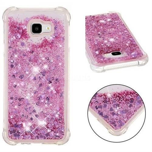 Dynamic Liquid Glitter Sand Quicksand Star TPU Case for Samsung Galaxy J4 Plus(6.0 inch) - Diamond Rose