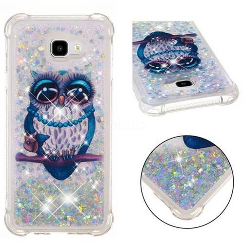 Sweet Gray Owl Dynamic Liquid Glitter Sand Quicksand Star TPU Case for Samsung Galaxy J4 Plus(6.0 inch)