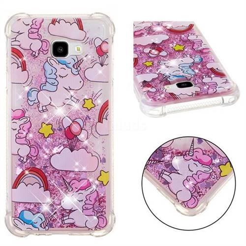 Angel Pony Dynamic Liquid Glitter Sand Quicksand Star TPU Case for Samsung Galaxy J4 Plus(6.0 inch)