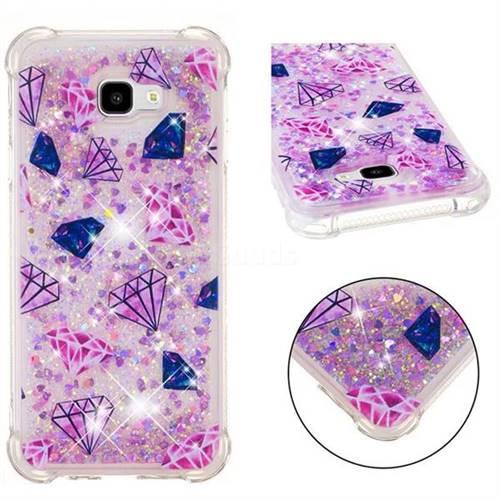 Diamond Dynamic Liquid Glitter Sand Quicksand Star TPU Case for Samsung Galaxy J4 Plus(6.0 inch)