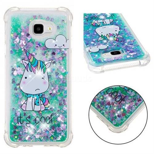 Tiny Unicorn Dynamic Liquid Glitter Sand Quicksand Star TPU Case for Samsung Galaxy J4 Plus(6.0 inch)