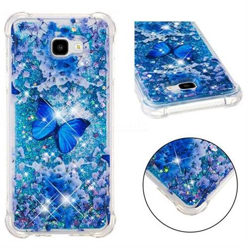 Flower Butterfly Dynamic Liquid Glitter Sand Quicksand Star TPU Case for Samsung Galaxy J4 Plus(6.0 inch)