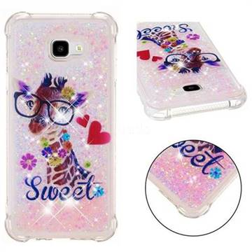 Sweet Deer Dynamic Liquid Glitter Sand Quicksand Star TPU Case for Samsung Galaxy J4 Plus(6.0 inch)