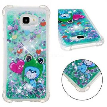 Heart Frog Lion Dynamic Liquid Glitter Sand Quicksand Star TPU Case for Samsung Galaxy J4 Plus(6.0 inch)