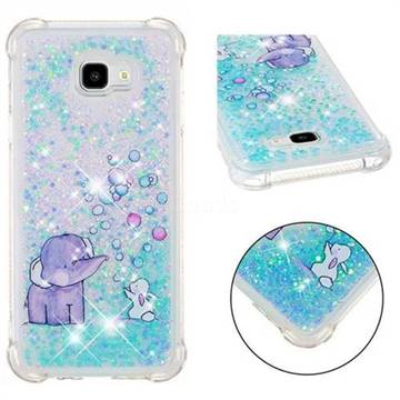 Bubble Jumbo Rabbit Dynamic Liquid Glitter Sand Quicksand Star TPU Case for Samsung Galaxy J4 Plus(6.0 inch)