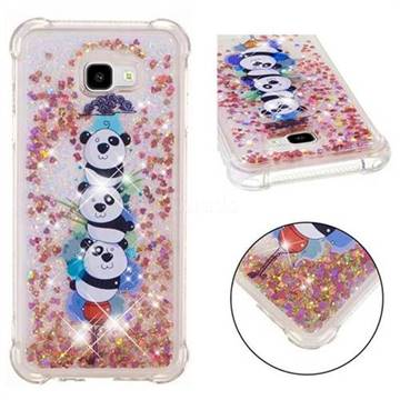 Three Pandas Dynamic Liquid Glitter Sand Quicksand Star TPU Case for Samsung Galaxy J4 Plus(6.0 inch)