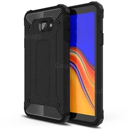 King Kong Armor Premium Shockproof Dual Layer Rugged Hard Cover for Samsung Galaxy J4 Plus(6.0 inch) - Black Gold
