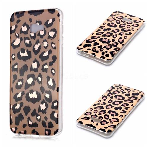 Leopard Galvanized Rose Gold Marble Phone Back Cover for Samsung Galaxy J4 Plus(6.0 inch)