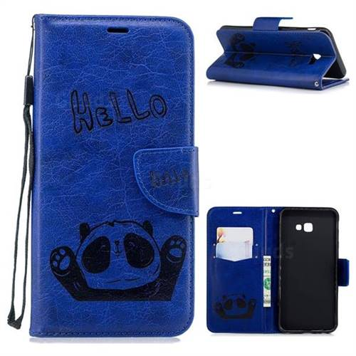 8 Off Embossing Hello Panda Leather Wallet Phone Case For Samsung