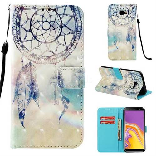 Fantasy Campanula 3D Painted Leather Wallet Case for Samsung Galaxy J4 Plus(6.0 inch)