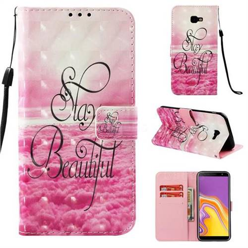 Beautiful 3D Painted Leather Wallet Case for Samsung Galaxy J4 Plus(6.0 inch)