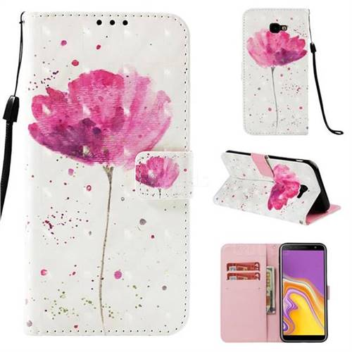 Watercolor 3D Painted Leather Wallet Case for Samsung Galaxy J4 Plus(6.0 inch)