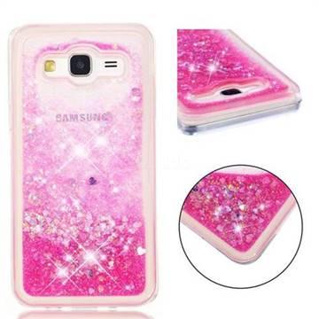 Dynamic Liquid Glitter Quicksand Sequins TPU Phone Case for Samsung Galaxy J5 2015 J500 - Rose