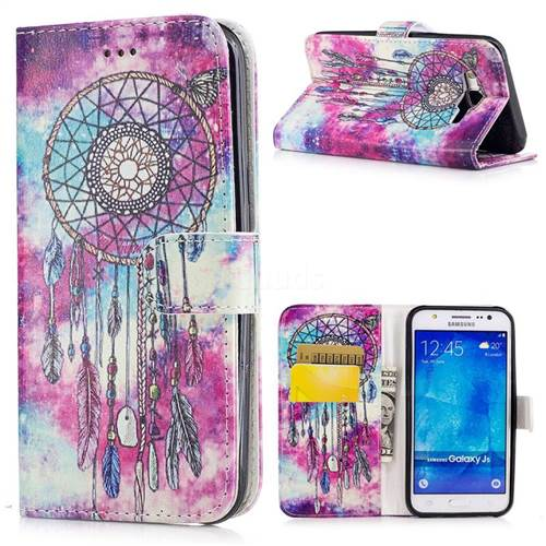 Butterfly Chimes PU Leather Wallet Case for Samsung Galaxy J5 2015 J500