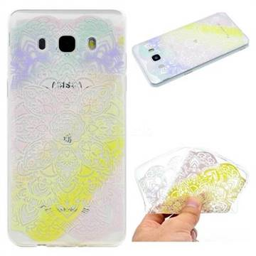 Mandala Rainbow Flower Super Clear Soft TPU Back Cover for Samsung Galaxy J5 2016 J510