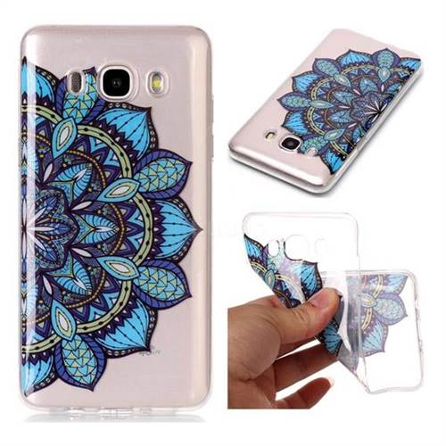 Peacock flower Super Clear Soft TPU Back Cover for Samsung Galaxy J5 2016 J510