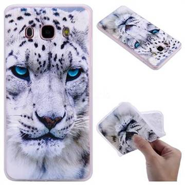 White Leopard 3D Relief Matte Soft TPU Back Cover for Samsung Galaxy J5 2016 J510