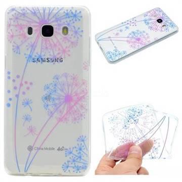 Rainbow Dandelion Super Clear Soft TPU Back Cover for Samsung Galaxy J5 2016 J510