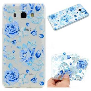 Ice Rose Super Clear Soft TPU Back Cover for Samsung Galaxy J5 2016 J510