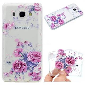Peony Super Clear Soft TPU Back Cover for Samsung Galaxy J5 2016 J510