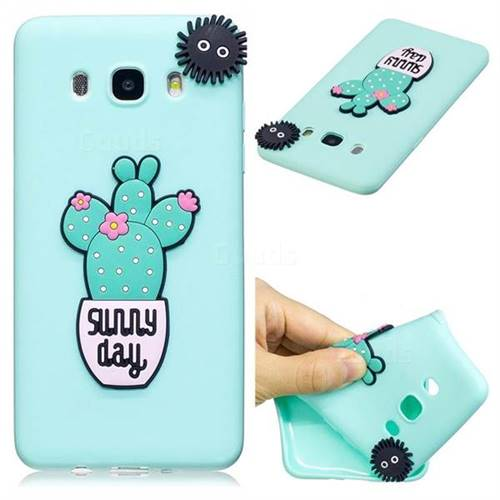 Cactus Flower Soft 3D Silicone Case for Samsung Galaxy J5 2016 J510