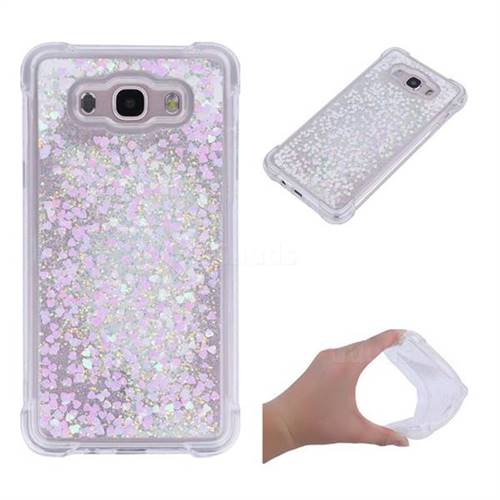 Dynamic Liquid Glitter Sand Quicksand Star TPU Case for Samsung Galaxy J5 2016 J510 - Pink