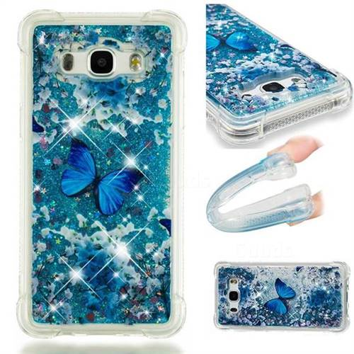 Flower Butterfly Dynamic Liquid Glitter Sand Quicksand Star TPU Case for Samsung Galaxy J5 2016 J510